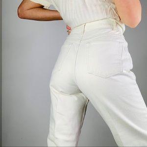 Vintage Wrangler White high rise tapered mom jean